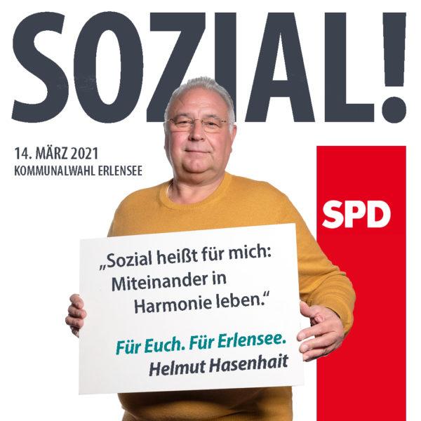 Helmut Hasenhait Sozial